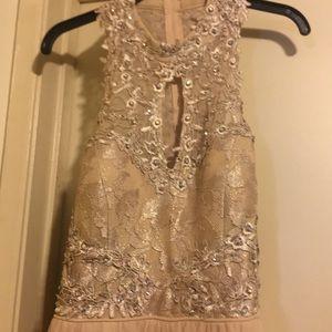 Beautiful Beaded Nude Dress